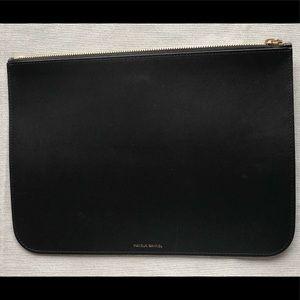 Mansur Gavriel Large Clutch Wallet Bag Black